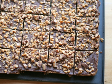 chocolate toffe shortbread 1