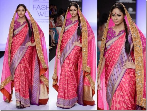 Gaurang_Shah_Pink_Saree