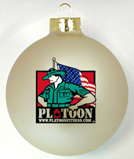 Military Support Website logo on a custom ornament   http://www.fundraisingornaments.com