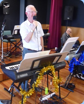 Peter Jackson crooning away for the members and residents.