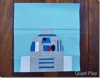Paper pieced R2D2