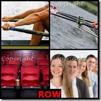 ROW- 4 Pics 1 Word Answers 3 Letters