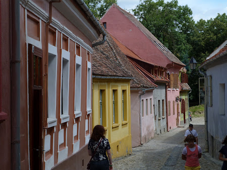 Things to see in Sighisoara: back streets of old medieval town