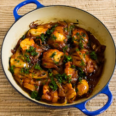 Saffron Chicken with Parsley and Lemon