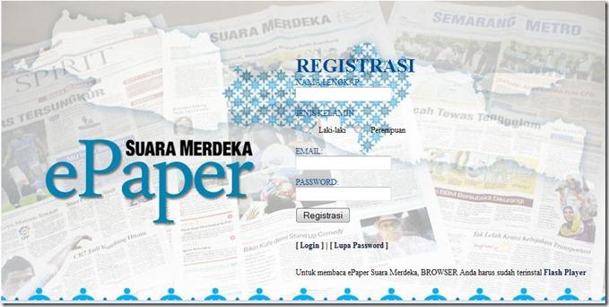 Registrasi epaper