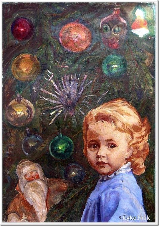 Синицын Борис Георгиевич (Россия, 1935) «У елки» 1970