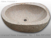Natural Boulder - Stone Vessel Sink, Light with Polished Rim