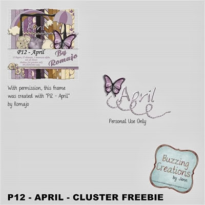 Romajo - P12 - April - Cluster Freebie Preview