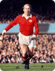 Sir Bobby Charlton in action for his English nation