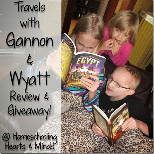 Travels with Gannon & Wyatt, a review and giveaway @Homechooling Hearts & Minds!