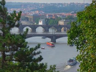 vista desde el parque Letná, Praga