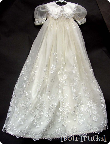 Wedding Gown turned Blessing Gown