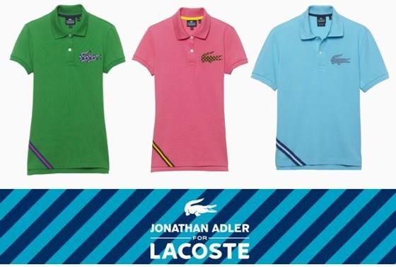 Crocodilo da Lacoste ganha nova versão – Edição limitada Jonathan Adler.