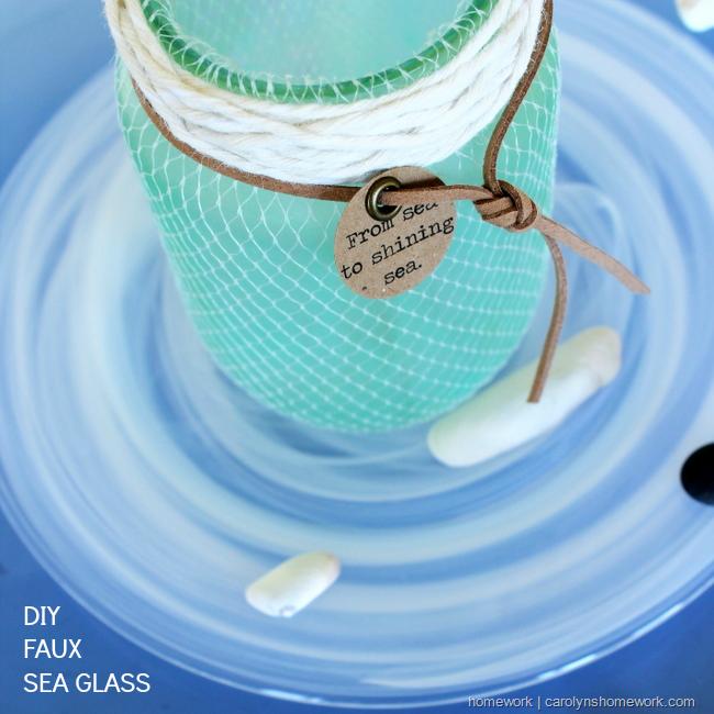 DIY Faux Sea Glass via homework  | carolynshomework (1)