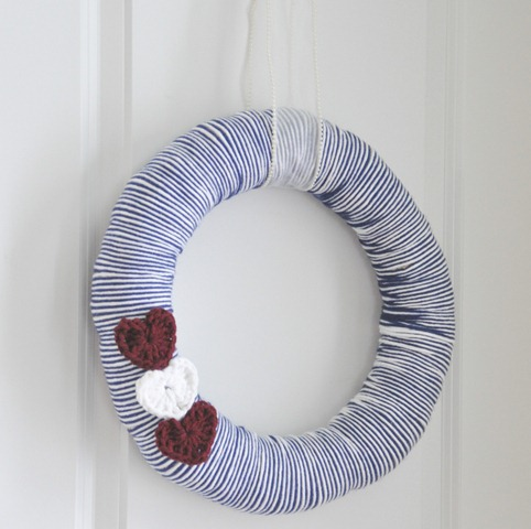 Valentine's Yarn Wreath