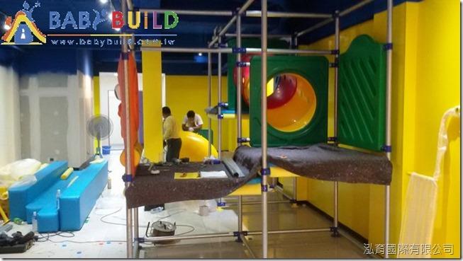 BabyBuild 室內 3D 泡管兒童遊具溜滑梯施工組裝