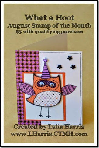 What A Hoot Stamp of the Month with CTMH Scaredy Cat #Paper piecing #CTMH Thistle Ink