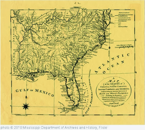 'A map of the states of Virginia, North Carolina, South Carolina and Georgia comprehending the Spanish provinces of east and west Florida as fixed by the Treaty of Peace between the United States and the Spanish dominions.' photo (c) 2010, Mississippi Department of Archives and History - license: http://www.flickr.com/commons/usage/