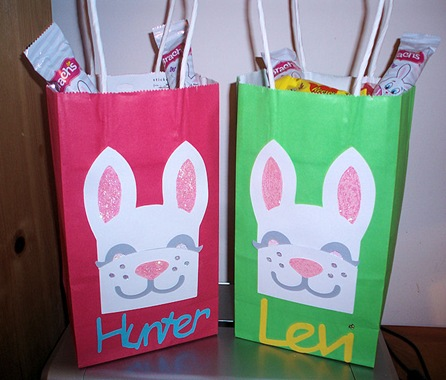 Hunter and Levi  Easter Bags