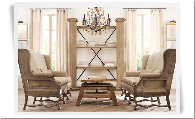 Restoration Hardware Barroque Wood Chandy