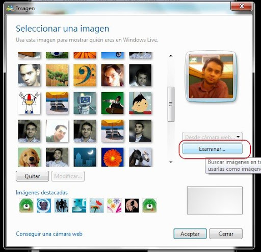 Cambiar la foto de perfil en el Messenger paso 2