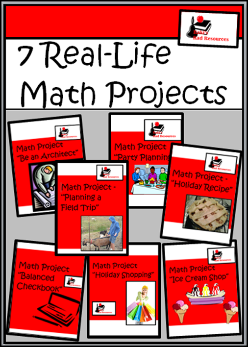 Top 10 Blog Posts from Raki's Rad Resources of 2014 - Seven math projects for your elementary classroom