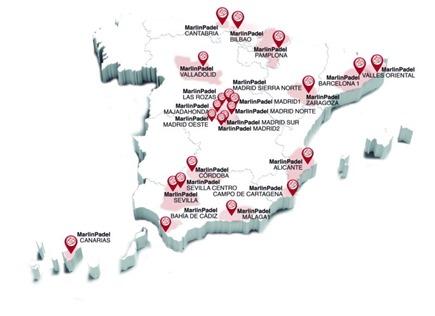 Mapa franquiciados: MarlinPadel alcanza los 23 franquiciados en apenas 2 meses.