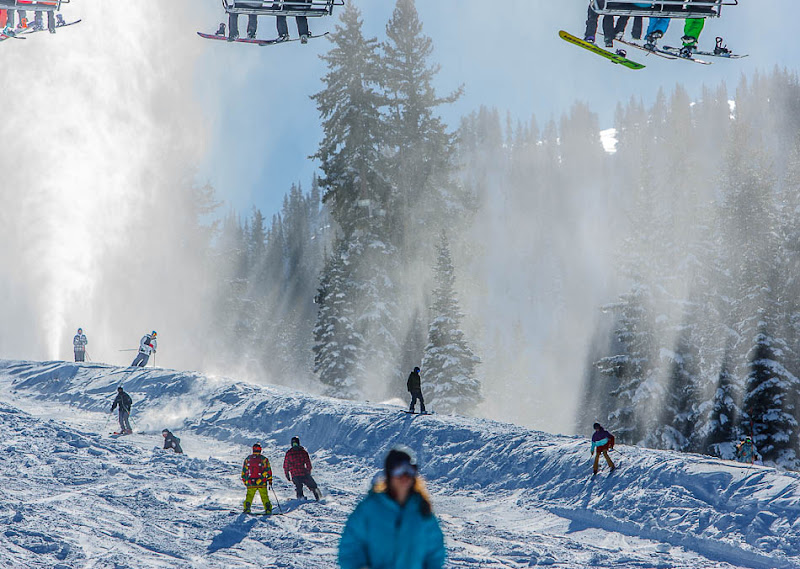 Brighton Ski Resort, opening day