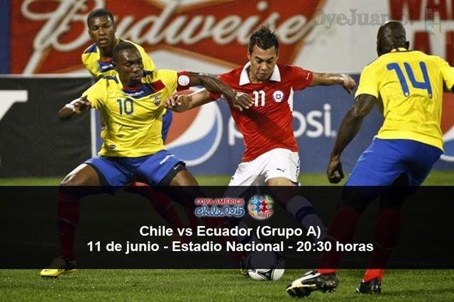 Chile vs Ecuador - 11 de junio - Grupo A