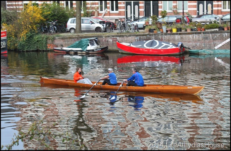 rowing in the canal