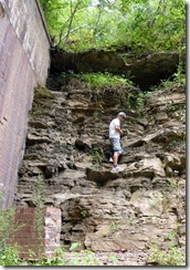 Dan checking out the rocks at Silver Run Tunnel
