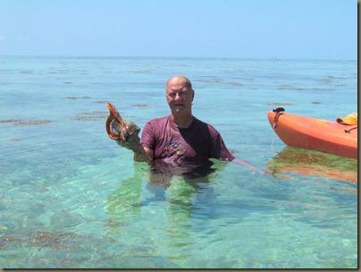 kayaking around sunshine key, john