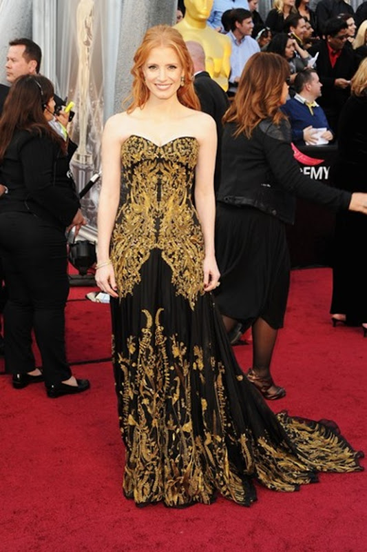 Jessica Chastain in Alexandra McQueen