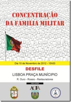 Militares manifestam-se em Lisboa.Nov.2012