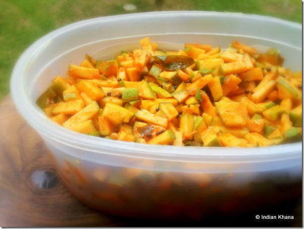 Easy Instant Mango Pickle South Indian Style Recipe