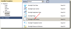 Create a new Silverlight Child Window