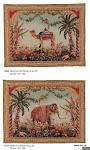 """Gobelin """"Elephant"""" (poniżej) został utkany w połowie XIX wieku w Aubusson i obecnie znajduje się w Luwrze."""