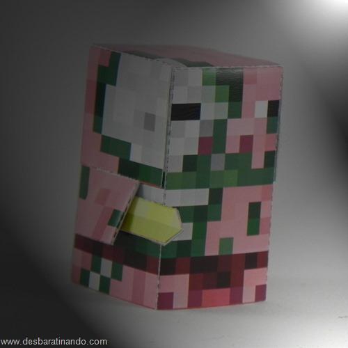 Paper Toys minecraft pigman