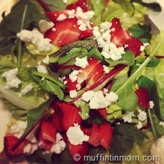 Spinach Salad Strawberries Goast Cheese