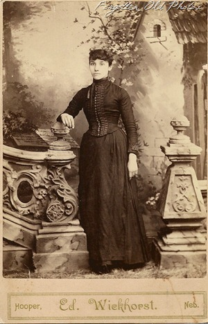 nebraska lady Cabinet Card Solway