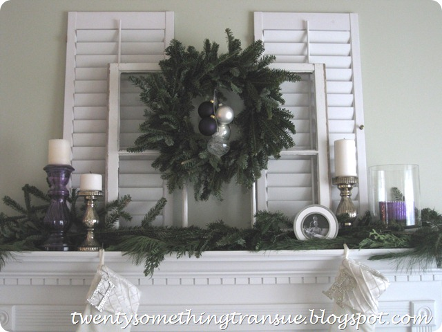 Purple Christmas Mantel Decorations 003
