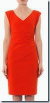 Diane von Furstenberg Orange Ruched Dress