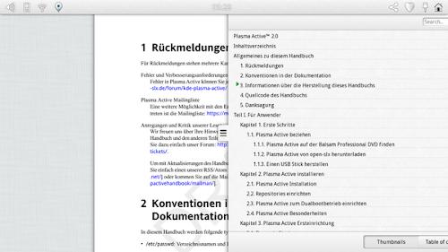 KDE Plama Active 3 - Okular Active