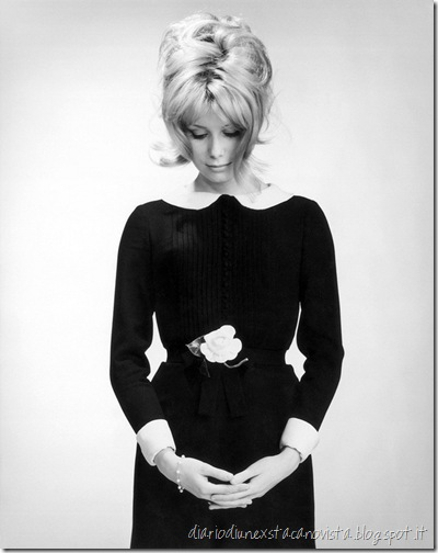 Catherine Deneuve in Chanel dress