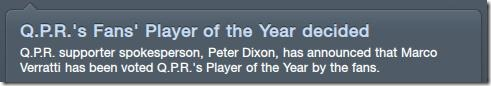 Fans player of the year