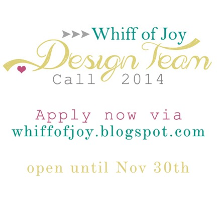 Whiff of Joy 2014 DesignTeam Call