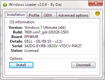 Download Windows Loader v2.0.9 Genuine Crack Activator and works fake windows as genuine