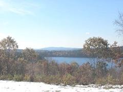 11.2011 Maine Otisfield snow lake mts2