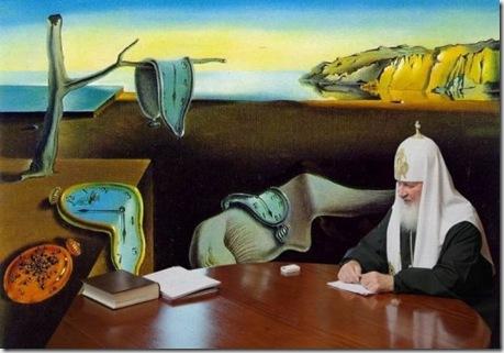 Патриарх и часы. Фотожаба