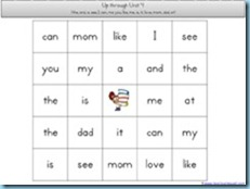 You Can Read Sight Words Unit Review BINGO2